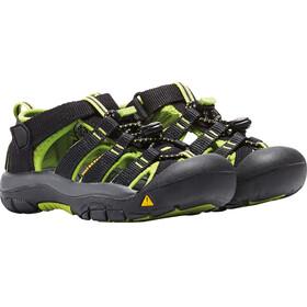 Keen Kids Newport H2 Sandals Black/Lime Green